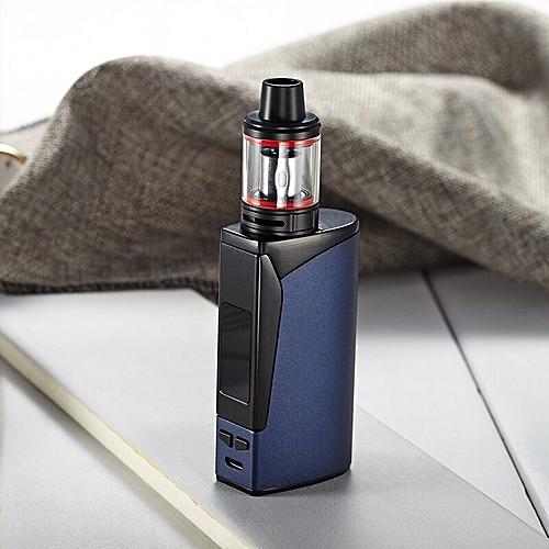 electronic cigarette 100w box mod kit Huge vapor 2200mah battery 2 5ml tank  vape mod vaporizer shisha pen e-cigarettes (Blue)