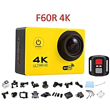 2017 EDITION F60R 4K 30fps 16M Action Sports Camera Cam Remote Shutter Control YELLOW JY-M