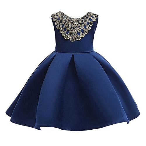 Buy Eissely Child Girls Princess Dress Kids Party Flanger Wedding