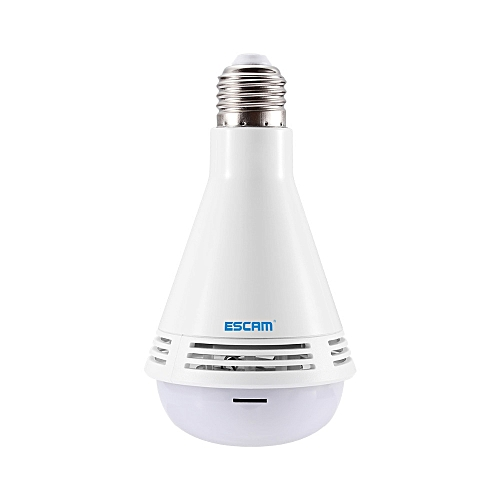 Ip Bluetooth 1080p Wifi With Bulb SpeakerWhite Qp137 Hd Selma Lamp Panoramic 2 0mp Escam Security Led Fisheye Camera T1Fcl3uJK
