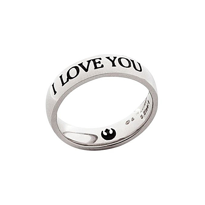 Buy Generic Fashionable Couple Rings Letter Pattern I Love You I