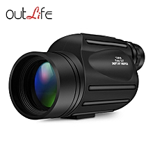 13X50 Monocular Telescope Prism Scope - Black