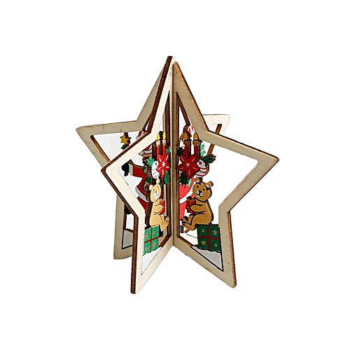 Sunshine 2 pcs wooden stereoscopic christmas tree for Home decorations on jumia
