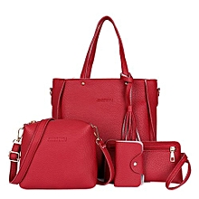 Handbag Shoulder Bag Fashion 4Pcs/Set PU Makeup Storage