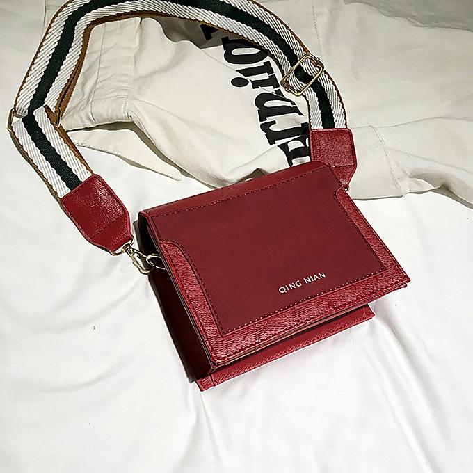 233887d4b0e6 ... koaisd Women Shoulder Bag Wide Shoulder Strap Simple Messenger Bag  Small Square Bag