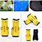2Pcs Soft Light Football Shin Pads Soccer Guards Sports Leg Protector Kids Adult Yellow