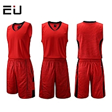 Customized Name Number Brand Men's Basketball Training Sports Jersey Set-Red(1006)