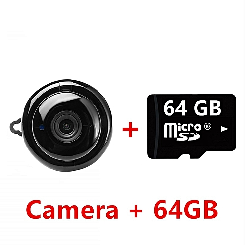 Super Mini WIFI Camera FULL HD 1080P Sensor Portable Home Security  Camcorder Indoor Small Cam Night Vision Detection kits CCTV JUN(camera with  64G