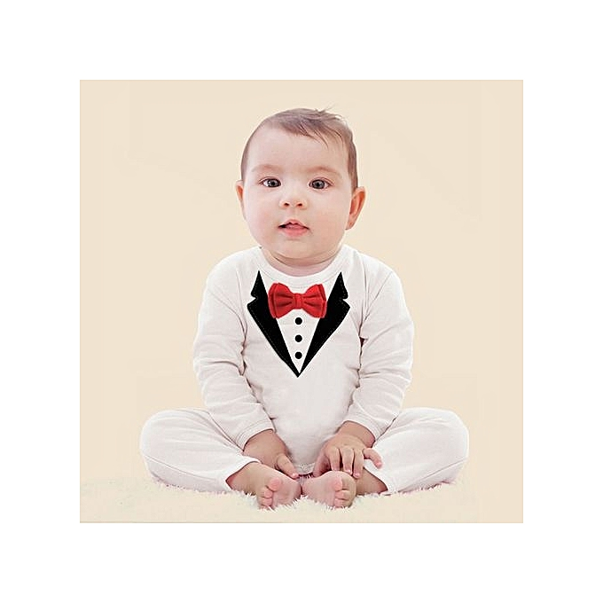 215f8faf4 Generic Popular Child Suits Cotton Jumpsuit Rompers Newborn Baby Boy ...