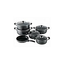 11Pcs Non-Stick Pots And Pan-Black