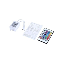 24 Key IR Remote Controller for LED RGB Strip Lamp - White