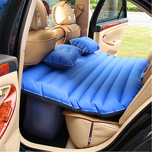 Inflatable SUV Car Travel Mattress Back Seat Camping Air Bed w/ Pump 2  Pillow