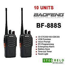 (10 Units)BaoFeng BF-888S BF888 / BF 888S / BF888S Walkie Talkie Set 16 Channel Radio UHF 5W