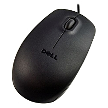 Optical Mouse - Wired - USB 3-Button - Black