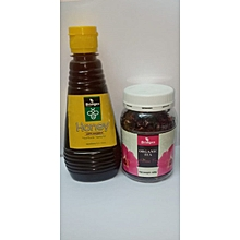 Organic Hibiscus Flower Tea & Organic Honey Package.