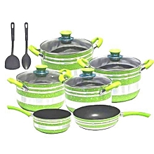 10pcs - Nonstick pots - Green