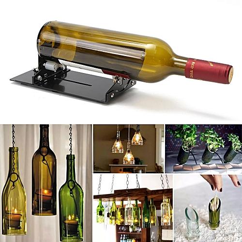 2ee705286da9 Vintage Wine Beer Glass Bottle Cutter Machine Jar Recycle Cutting Tool Kit  Craft Black
