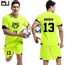 Customized Youth Boy And Adult Men's Football Soccer Sport Jersey-Green(QD-1625)