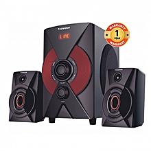 MP-2174 Multimedia Speaker System 2.1 with Bluetooth,FM Radio black pmpo: 5500W