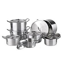 7pc Aluminium Cooking Pots