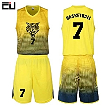 Hot Sale Men  039 s Customized Team Basketball Sport Jersey Uniform-Yellow( 02e5e5e8f
