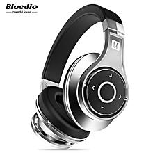 LEBAIQI Bluedio UFO Bluetooth Headphones Wireless headset with Mic(Black/Silver)