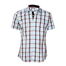 Checked Light Cyan Shirt
