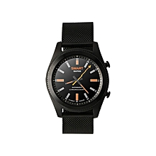 Smart Watch No.1 S9 NFC With Stainless Steel Strap MTK2502C Bluetooth4.0 Heart Rate Monitor - Black