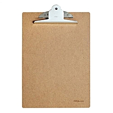 Deli 9224 A4 Wood Clipboard Writing Board Clip Board Office School Accessories-umber
