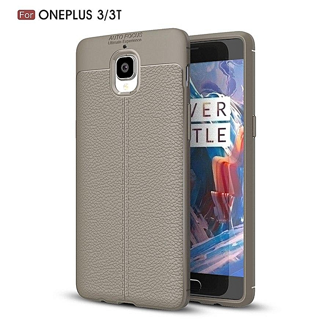 finest selection 183ae f4c21 Litchi Pattern Silicone Case For OnePlus 3T 3 Case Full Protect Silicone  Leather Back Cover For OnePlus 3T 1+3T Phone Case