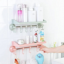 Wall Mounted Shelf Kitchen Rack - Bathroom Organizer