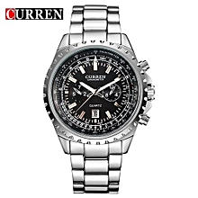 Watches, 8053 men quartz military wristwatches fashion casual water resistant business watch - Silver