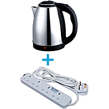 Scarlett Electric Kettle - 2L - Plus Free Heavy Duty 4 Way Extension.