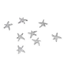 100PCS Nail Sticker Nail Art Decorations (7MM Starfish )