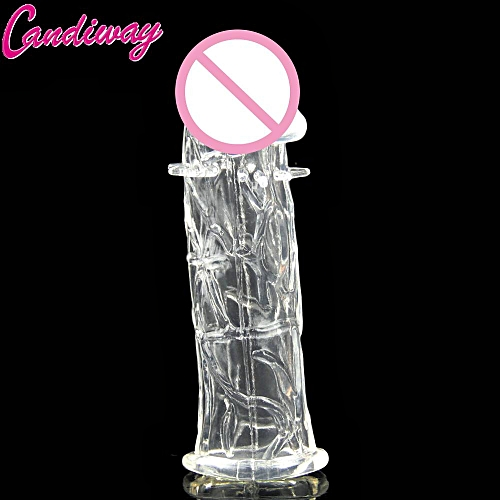 075cc4c9a Generic Clear reusable delay condoms penis extender condom soft ring male  sleeves couples sex toys for man Lover sex game