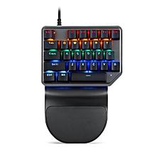 Motospeed K27 Mixed Light Backlight Ergonomics Design PC Gaming Keyboard Wired USB One-Handed 27 Keys Mechanical Keyboard for PUBG