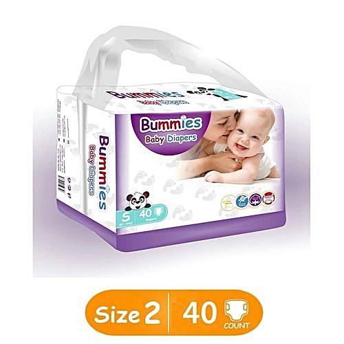 da89b302d Bummies Premium Diapers - Small : Size 2 (3-6 Kg) COUNT: 40PCS ...