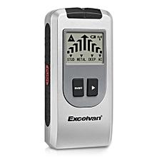 Excelvan 4-in-1 Multi-function Large LCD Display Detector Metal, Stud, Deep, AC Electrical Live Wires - Gray