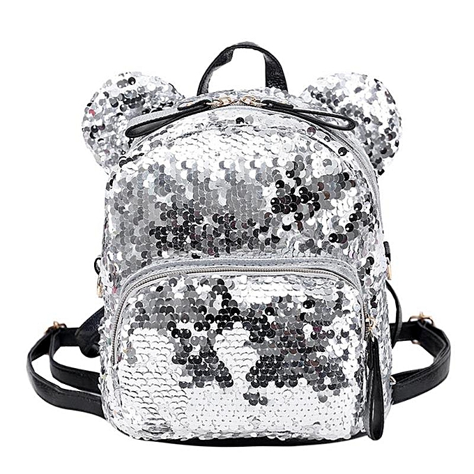 6132fc446af Portable Women Sequins Bling Backpack Girls Mini School Bags for Teenage  Girls Backpack Women Small Travel Bag Mochila(Silver)