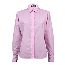 b651a481eb473 Pink small stripe ladies blouse