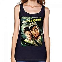 The African Queen Women's Print Vest Tank Tops Black