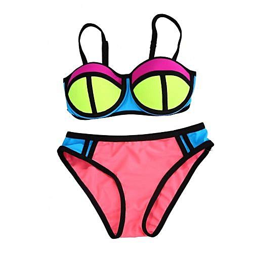 5137a29d572 Generic Lovely Two-Piece Swimsuit Bikini Swim Swimming Suit Swimwear For  Children Kids Girls(Pink 32)