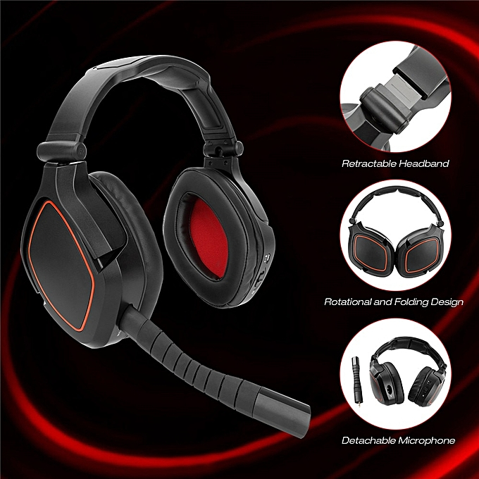 0278daa5cf9 ... HW-K8 Wireless 2.4G Optical Fiber Stereo Gaming Headset for Nintendo  SWITCH PS4 PC ...
