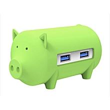 ORICO Little Pig High Speed USB 3.0 OTG HUB Adapter SD TF Card Reader For Macbook Laptop Green