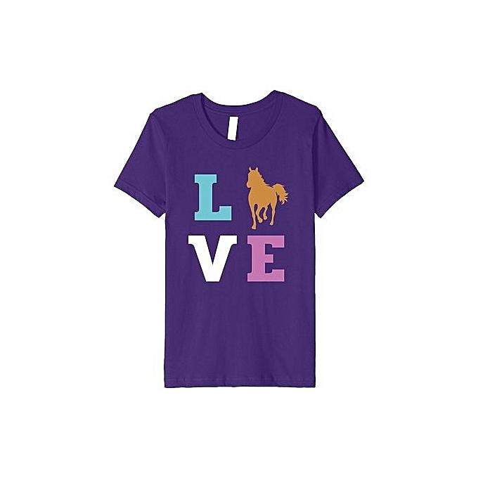 a3d3d29f Fashion I Love My Horse Premium T-Shirt For Women Girls Teens @ Best ...