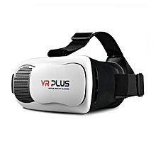 VR Plus Leather Helmet Virtual Reality 3D Glasses Box for Smartphone