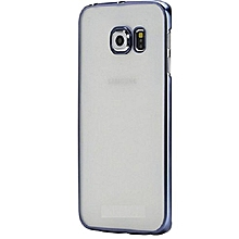 Back Case Cover Galaxy S7 Edge - Transparent Black