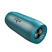 S16 Bluetooth Speaker Wireless Subwoofer w/TF Card Slot Mic (Blue)