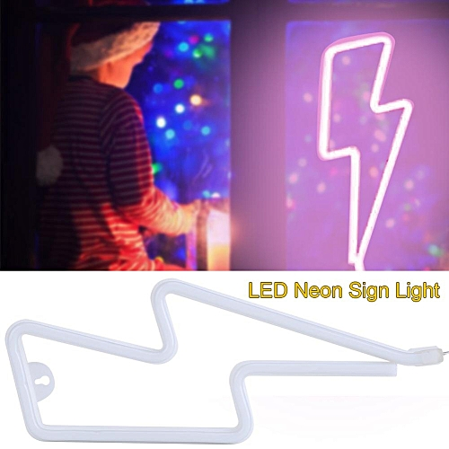 USB/Battery Powered LED Neon Sign Home Light Wall Background  Shop/Wedding/Christmas Decorate Lamp (Pink)