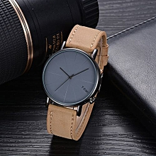 Technologg Watch   TOMI Fashion Casual Men 's Bussines Retro Design Leather Round Band Watch -Brown